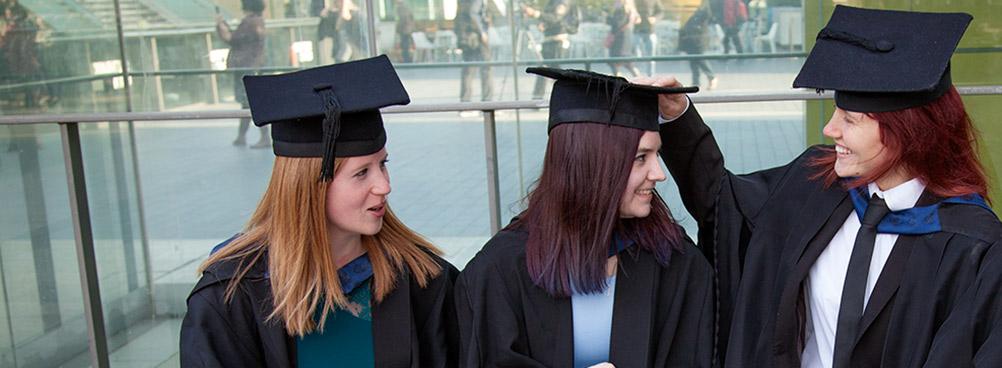 Graduates at London South Bank University (LSBU)
