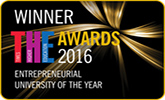 Logo for winning Entrepreneurial University of the Year at the Times Higher Education Awards 2016
