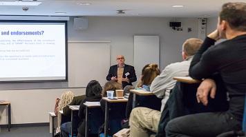 Professor Marcantonio Spada giving lecture