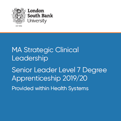 MA Strategic Clinical Leadership