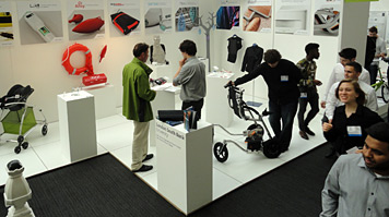 The London South Bank University exhibition stand at New Designers 2012