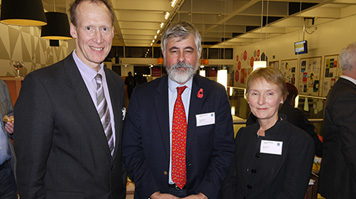 Pat Bailey with  CIBSE Technical director and BSRIA CEO Julia Evans
