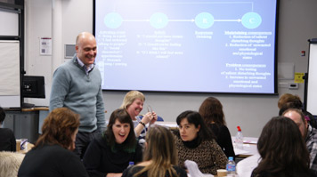 Prof Marcantonio Spada at CBT workshop on problem drinking