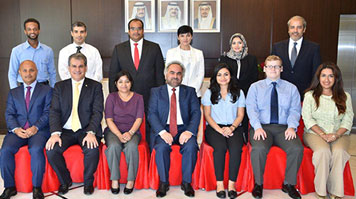 Students from LSBU and staff from GPIC photographed in Bahrain