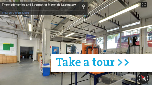 Thermodynamics and strength of materials lab tour
