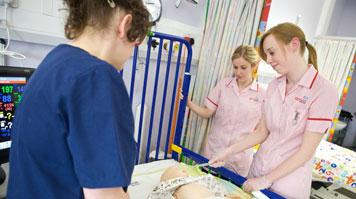 LSBU nursing students attend a clinical skills class