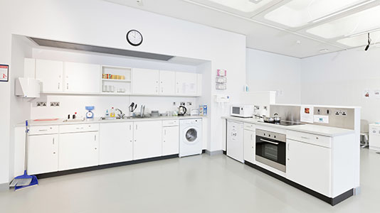 Open space with kitchen facilities