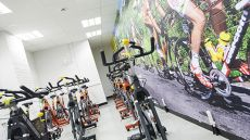 Exercise bikes at the Academy of Sport