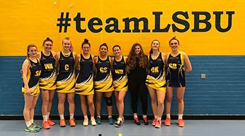 LSBU Women's Netball team win university league