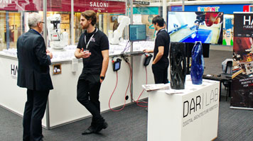 DARLab technology exhibition stand at the Digital Catapult Centre