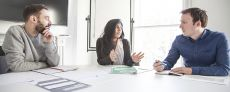 A business consultation