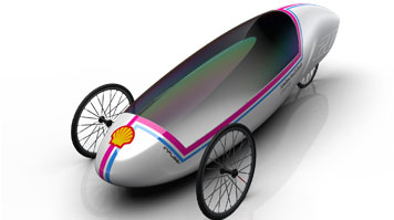 A concept image of an ultra-fuel efficient car