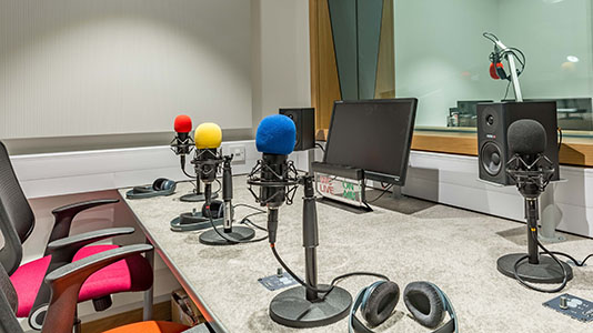 Radio Studio and Control Room
