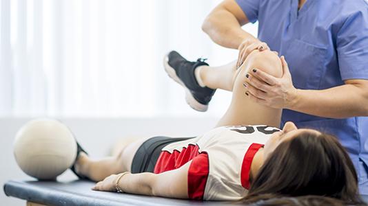 Sports Rehabilitation treatment on knee