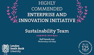 Sustainability Team staff awards