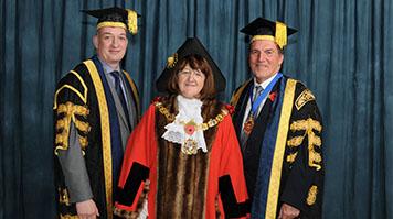 Simon Huges and the Lady Mayoress of Southwark, Catherine Rose