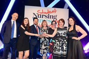 LSBU wins Partnership of the Year with St Mungo's at the Student Nursing Times Award 2018