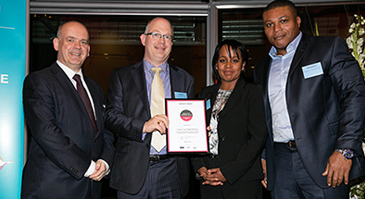 LSBU receiving the Healthy Workplace Accolade