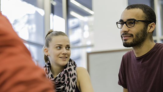 Students in discussion