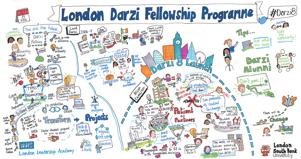 Graphic from Darzi launch event