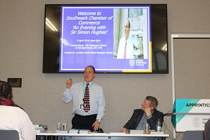 LSBU chancellor co-hosts local business gathering with Southwark Chamber of Commerce