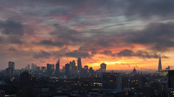 James Burns' photo of London skyline at dawn