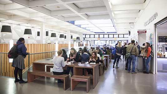 The Grad Café in the Student Centre