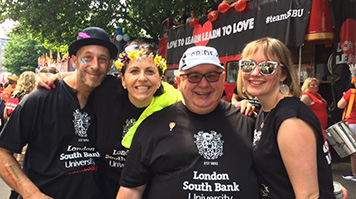 LSBU staff at the 2017 Pride in London parade