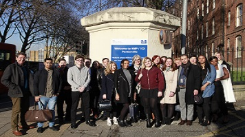 LSBU students outside Pentonville prison