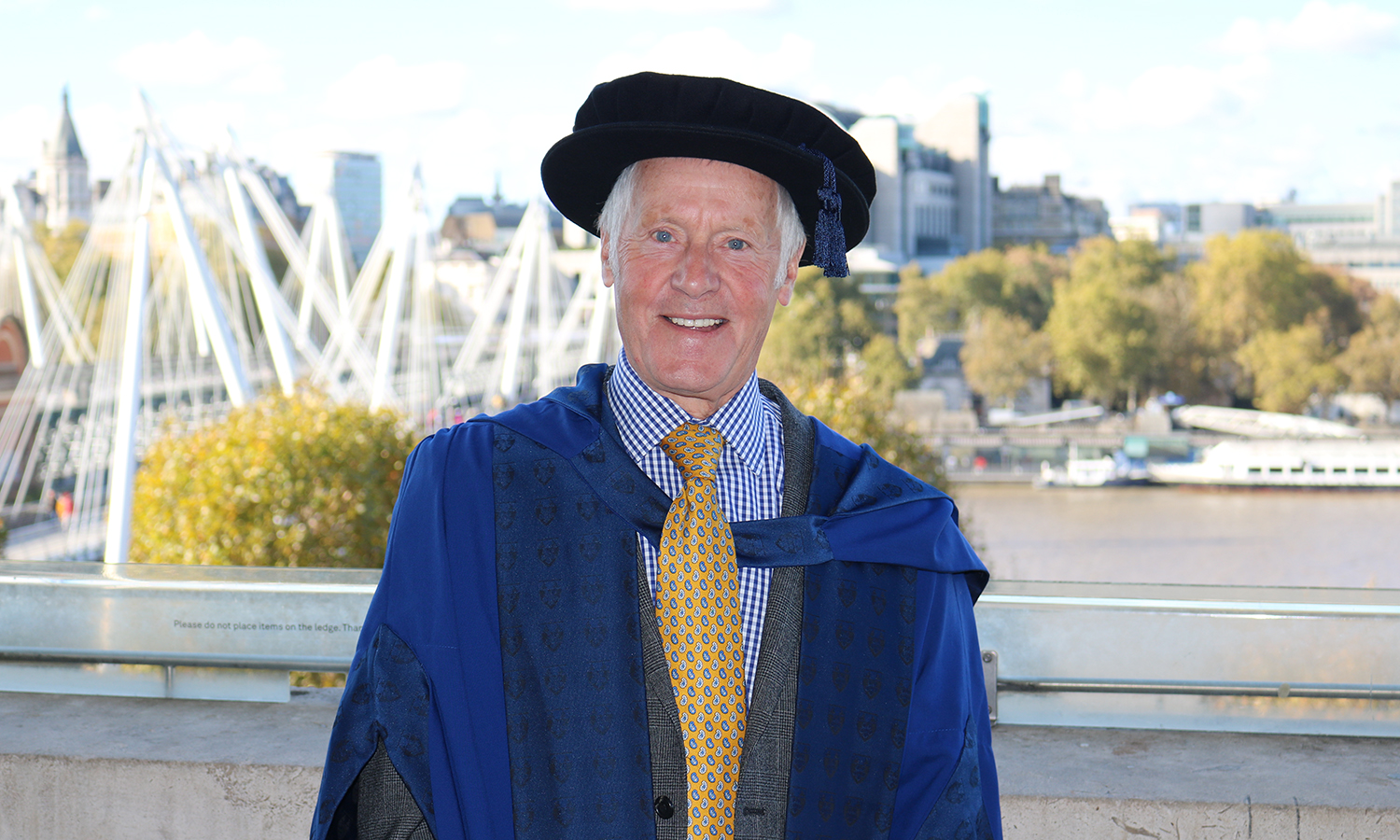 David Longbottom, former LSBU Pro-Chancellor, awarded honorary doctorate