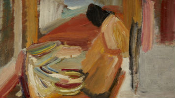 David Bomberg's Washing of the Feet is depicted