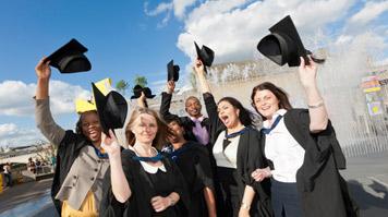 Students at LSBU graduation