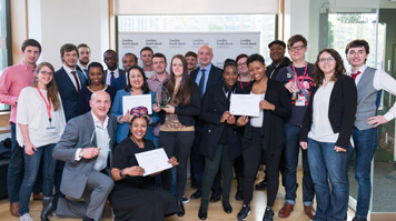 LSBU students at Celebrate Enterprise event