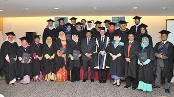 Graduation ceremony for Malaysian Ministry of Health alumni