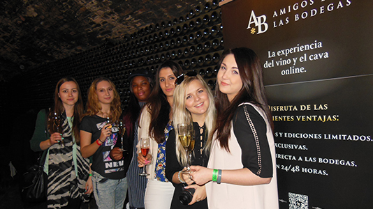 Tourism students Cava tasting in Barcelona
