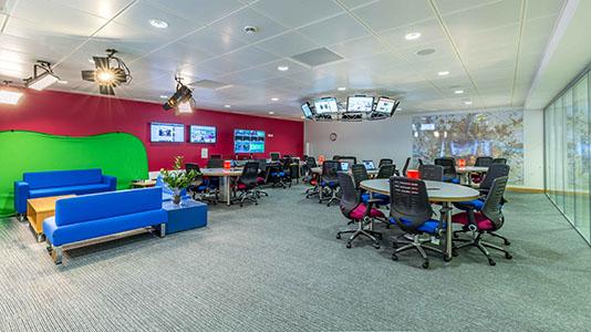Newsroom, Elephant Studios at LSBU