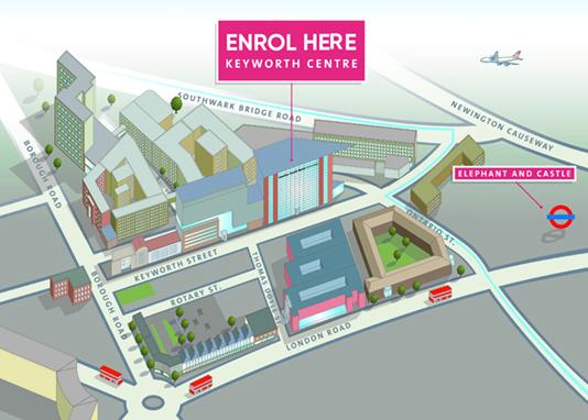 Enrolment map, LSBU