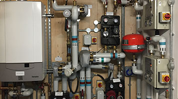 Pipes and boiler