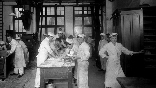 Archive photo of the bakery school