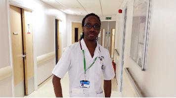 Nursing student Dane Thompson