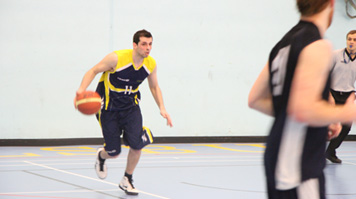 LSBU students playing basketball