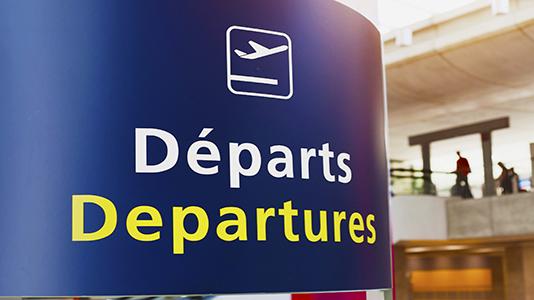 Airport departures