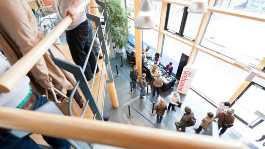 Keyworth Centre building lobby