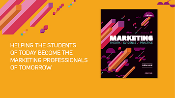 Textbook on Marketing - helping the students of today become the marketing professionals of tomorrow