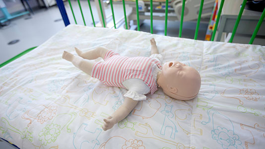 Anatomical dummy of a baby