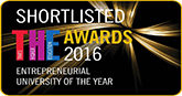 Shortlisted for THE Entrepreneurial University of the Year 2016