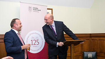 Neil Coyle MP hosts David Phoenix for 125 year LSBU anniversary