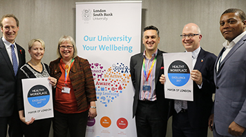 Mayor of London certifies LSBU a healthy place to work