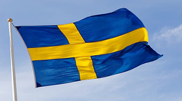 The flag of Sweden against the sky