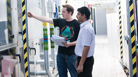 Two LSBU students working